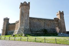 Rocca di Montalcino Stock Images