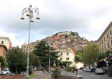rocca di Papa,吉卜赛的一部分的Castelli,意大利 免版税库存图片