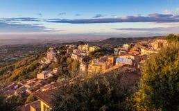 Rocca di Papa, Catelli Romani, Italy. View of Rocca di Papa, Catelli Romani, Italy Stock Photos