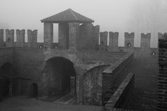 Rocca di Soncino. The ruins of the castle, at Soncino Royalty Free Stock Photography