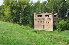 Rocca di Stellata, medieval tower Po plain in Lombardy. Stellata Medieval tower fortress on the Po river bank. Province Mantova, Po plain, Lombardy, Italy Stock Photo