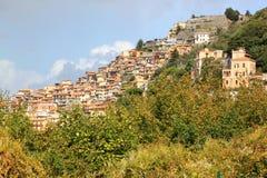 Rocca Di Tata w Lazio, Włochy zdjęcia stock