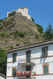Rocca di Varano (Marches, Italie) Photo stock
