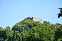 Rocca fortress in Asolo, Italy Stock Photos