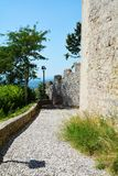 Rocca fortress and walls in Asolo, Italy Stock Photo
