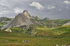 Rocca la Meja山,瓦尔Maira,库尼奥,意大利 库存照片