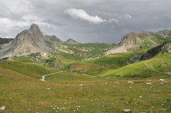 Rocca la Meja山,瓦尔Maira,库尼奥,意大利 库存图片