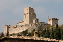 Rocca Maggiore, μεσαιωνικό κάστρο, Assisi Στοκ φωτογραφία με δικαίωμα ελεύθερης χρήσης