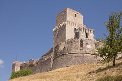 Rocca Maggiore in Assisi Royalty Free Stock Photo