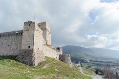 Rocca Maggiore in Assisi Royalty Free Stock Images