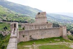 Rocca Maggiore, Assisi, Italia Fotografía de archivo