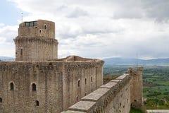 Rocca Maggiore, Assisi, Italia Fotografía de archivo libre de regalías