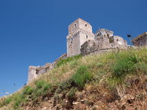Rocca Maggiore, Assisi, Italie Photo stock