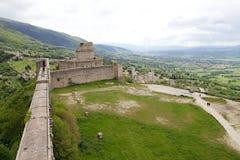 Rocca Maggiore, Assisi, Italie Photographie stock libre de droits