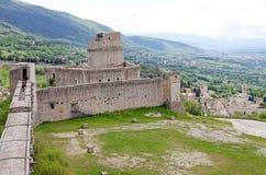 Rocca Maggiore, Assisi, Italien Stockbild