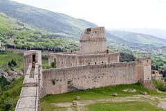 Rocca Maggiore, Assisi, Italy Stock Photography