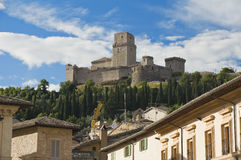 Rocca Maggiore. Assisi. L'Umbria. Fotografia Stock Libera da Diritti