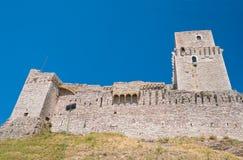 Rocca Maggiore. Assisi. Umbria. Stock Photos