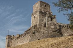 The Rocca Maggiore,Assisi, Umbria, Italy Royalty Free Stock Photo
