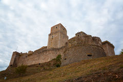 Rocca Maggiore fortress in Assisi Royalty Free Stock Images