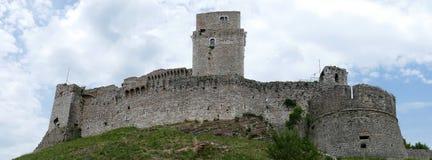 Rocca Maggiore i Assisi Arkivfoton