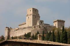 Rocca Maggiore, medeltida slott, Assisi royaltyfri fotografi