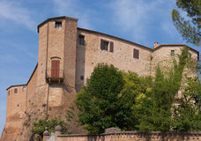 Rocca Malatestiana in Santarcangelo di Romagna. Malatesta fortress in Santarcangelo di Romagna, Italy. Built in the XIV century it was modified during the XV Stock Image