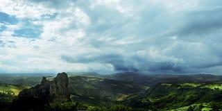 Rocca Malatina, Italië: Magisch landschap Stock Fotografie