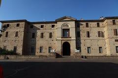 Rocca Meli Lupi of Soragna - Parma - Emilia Romagna - Italy. The Rocca Meli Lupi of Soragna is the splendid and sumptuous residence of the Meli Lupi Princes stock photo