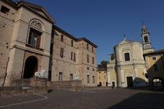 Rocca Meli Lupi of Soragna - Parma - Emilia Romagna - Italy. The Rocca Meli Lupi of Soragna is the splendid and sumptuous residence of the Meli Lupi Princes royalty free stock image
