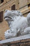 Rocca Meli Soragna Lupi。伊米莉亚罗马甘。意大利。 免版税库存图片