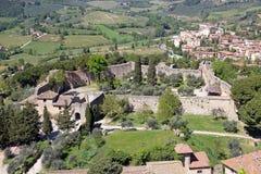 Rocca of Montestaffoli in San Gimignano, Tuscany, Italy Royalty Free Stock Image