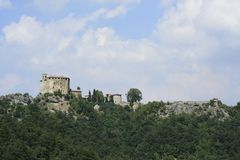 Rocca of Olgisio, Tidone valley Stock Photos
