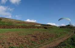 Rocca priora滑翔伞 库存照片