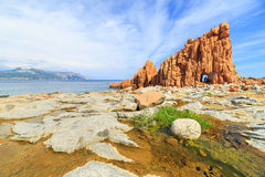 Rocca Rossa σε Arbatax, Σαρδηνία Στοκ Φωτογραφίες