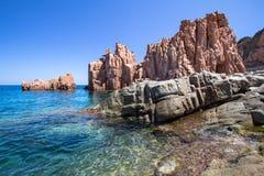 Rocca Rossa στο νησί της Σαρδηνίας, Ιταλία Στοκ Φωτογραφίες