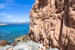 Rocca Rossa στο νησί της Σαρδηνίας, Ιταλία Στοκ Φωτογραφία