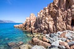 Rocca Rossa στο νησί της Σαρδηνίας, Ιταλία Στοκ Εικόνα