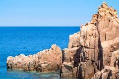 Rocca Rossa στο νησί της Σαρδηνίας, Ιταλία Στοκ εικόνες με δικαίωμα ελεύθερης χρήσης