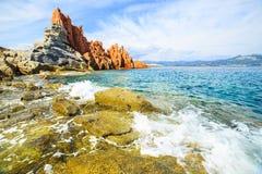 Rocca Rossa in Arbatax, Sardinia. Famous Rocca Rossa (Red Rock) in Arbatax, Sardinia Stock Images