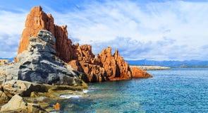 Rocca Rossa in Arbatax, Sardinige Royalty-vrije Stock Afbeelding