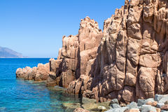 Rocca Rossa on Sardinia Island, Italia Royalty Free Stock Photography