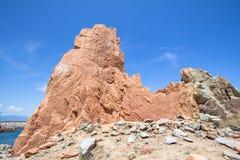 Rocca Rossa on Sardinia Island, Italia Royalty Free Stock Photos