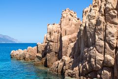 Rocca Rossa on Sardinia Island, Italia Royalty Free Stock Images