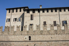 Rocca san vitale, old castle in fontanellato Royalty Free Stock Photo