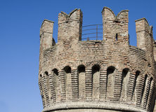 Rocca san vitale, old castle in fontanellato Stock Photography