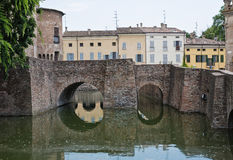 Rocca Sanvitale. Fontanellato. Emilia-Romagna. AIE imagem de stock royalty free