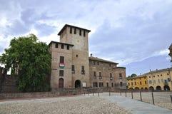 Rocca Sanvitale. Fontanellato. Emilia-Romagna. AIE foto de stock