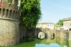 Rocca Sanvitale i staden av Fontanellato, Parma, Italien Arkivfoto