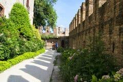 Rocca Sanvitale na cidade de Fontanellato, Parma, Itália imagem de stock royalty free